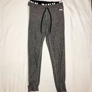 VS Pink Ultimate Jogger- grey with white stripe, S